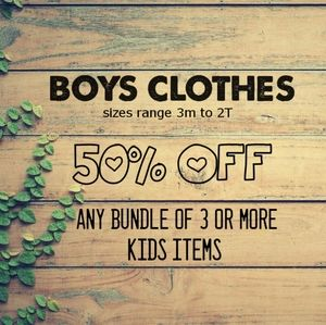 🔥3m to 2T - 50% off baby clothes!🔥